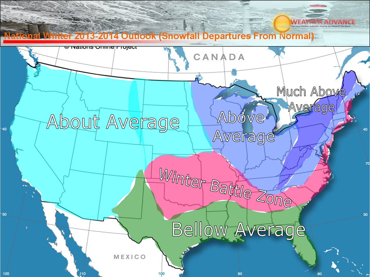 preliminary winter 2013 2014 winter outlook weatheradvance com