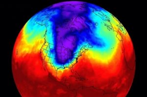 The first polar vortex (Credit: NASA/Facebook)