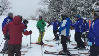 Ski instructor training at Cascade Mountain