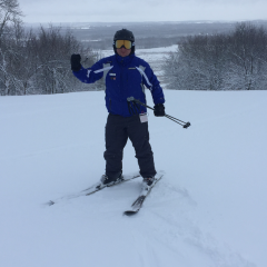 Ski Instructor on snow