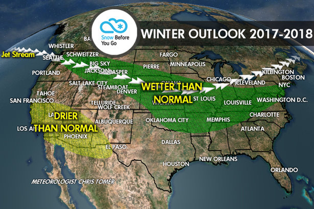 Winter weather forecast from OnTheSnow.com