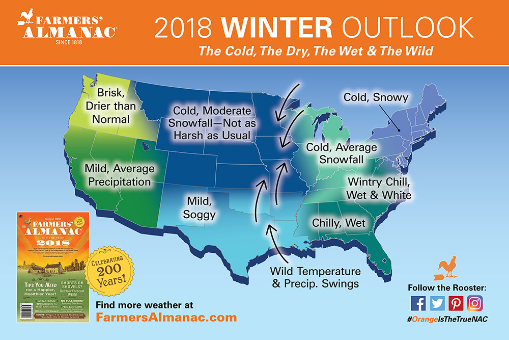 Winter weather map for 2017-18
