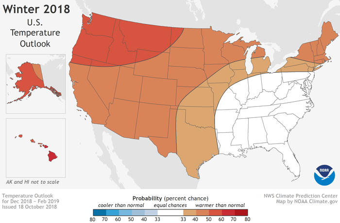 2019 Winter Forecast Map - USA
